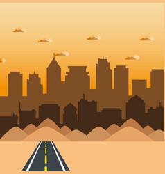 City landscape design vector