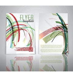 flyer template 1803 vector image vector image