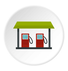 gas station icon circle vector image