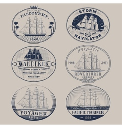 Nautical labels vector image vector image