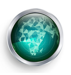 radar africa military abstract screen vector image vector image