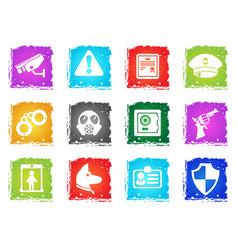 security symbols icon set vector image