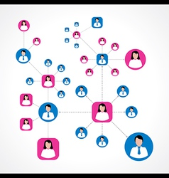 Social network concept with male and female icons vector image vector image
