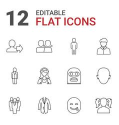 12 avatar icons vector