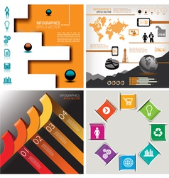 4 in 1 infographics vector