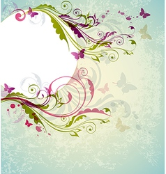 Abstract decorative floral background vector image