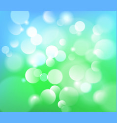 abstract green background with bokeh effect vector image
