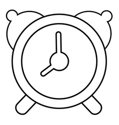 alarm clock icon outline line style vector image