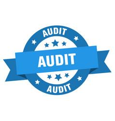 audit ribbon audit round blue sign audit vector image