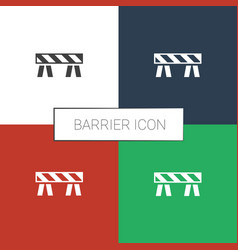 Barrier icon white background vector
