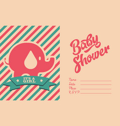 bashower invite greeting card vector image