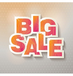 Big sale banner Sale and discounts vector