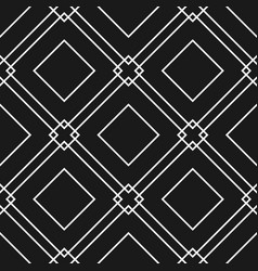 black and white seamless pattern with geometric sh vector image
