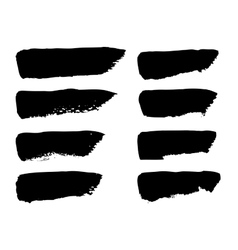 Black brush strokes vector image