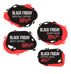 black friday sale design template conceptual vector image