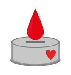 Blood drop saving box symbol vector