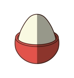 Boiled egg breakfast nutrition shadow vector