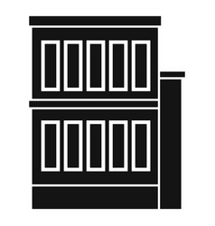 Building reconstruction icon simple style vector