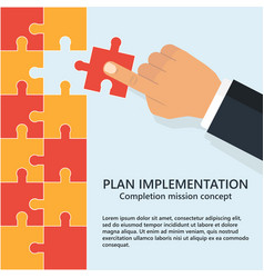 Buiness plan implementation vector