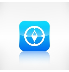 Compass web icon Application button vector image