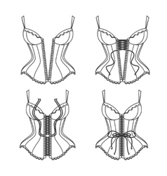 Corset Lacing Thin Line How To Lace vector