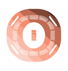 cricket stadium icon vector image