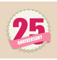 Cute Template 25 Years Anniversary Sign vector