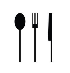 Cutlery in black vector