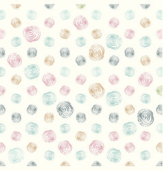decorative pattern with drawn circles background vector image
