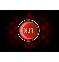 Delete Button vector image