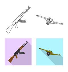 Design weapon and gun logo set vector
