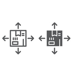 distribution line and glyph icon logistics and vector image