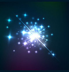 Effect cosmic lens flare burst vector