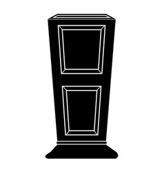 empty flower pot icon vector image