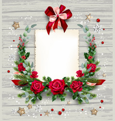 floral holiday card vector image
