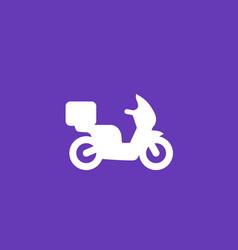 food delivery icon vector image