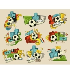 Football sports elements vector image