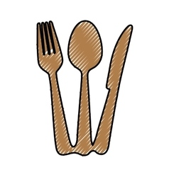 Fork knife spoon cutlery icon image vector