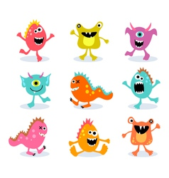 Friendly little monsters set 1 vector