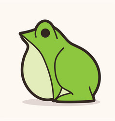 Frog cartoon graphic vector