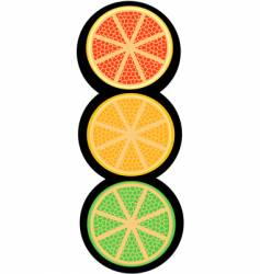 fruity light signal vector image
