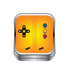 Game console button vector