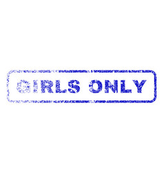 girls only rubber stamp vector image