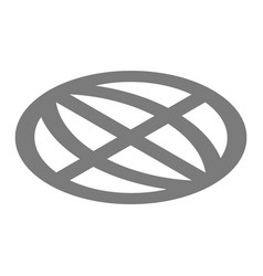 globe icon isometric style vector image