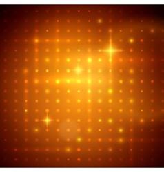 Golden disco lights vector