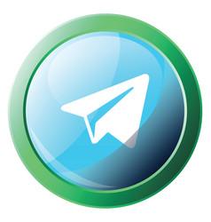 Icon on a white background a telegram logo vector