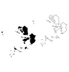 Incheon map vector