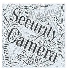 Information About Security Cameras Word Cloud vector image