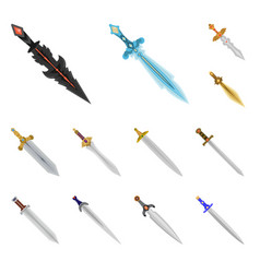 isolated object of sword and dagger sign set of vector image