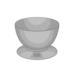 Kitchen scales icon black monochrome style vector
